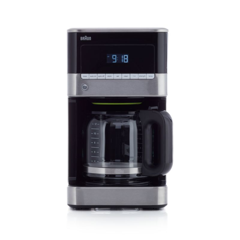 Braun Coffee Maker With Stainless Steel Carafe : Braun 12-Cup Stainless Steel Coffee Maker Crate and Barrel