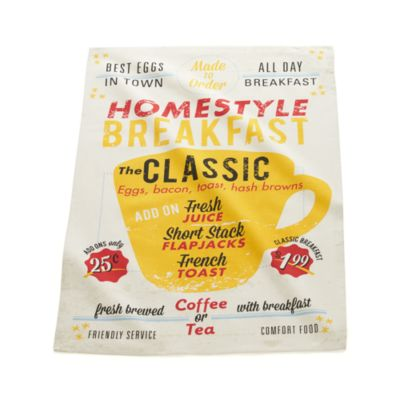 Breakfast Diner Dishtowel