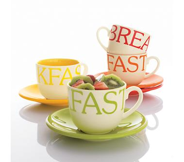 Breakfast Mug and Saucer Sets