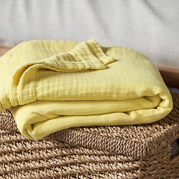 Breezy Citron King  Blanket
