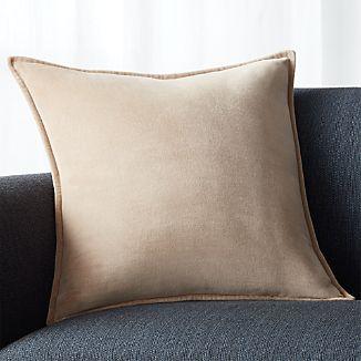 "Brenner Hummus 20"" Pillow with Down-Alternative Insert"