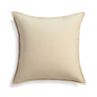 "Brenner Cream 20"" Velvet Pillow"