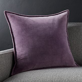 "Brenner Grape Purple 20"" Velvet Pillow"