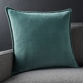 "Brenner Slate Grey 20"" Velvet Pillow"