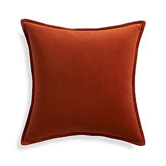 """Brenner Rust Orange 20"""" Pillow"""