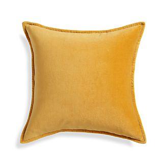 """Brenner Yellow 20"""" Pillow"""