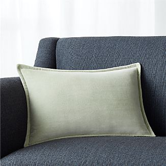 "Brenner Sage Green 18""x12"" Velvet Pillow"