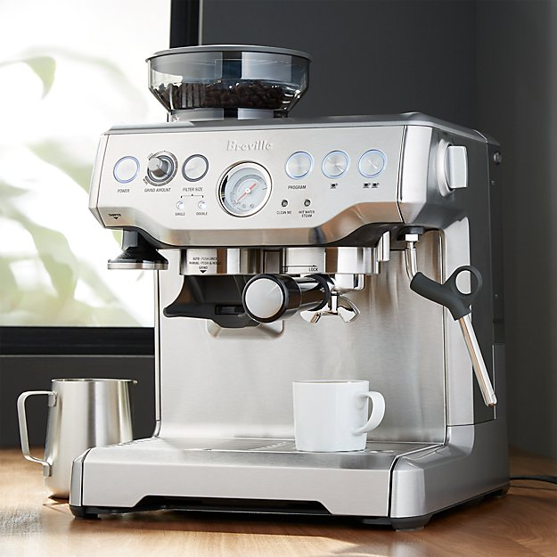 breville barista espresso machine crate and barrel. Black Bedroom Furniture Sets. Home Design Ideas
