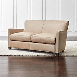 Briarwood Leather Sofa Belaire Platinum Crate And Barrel