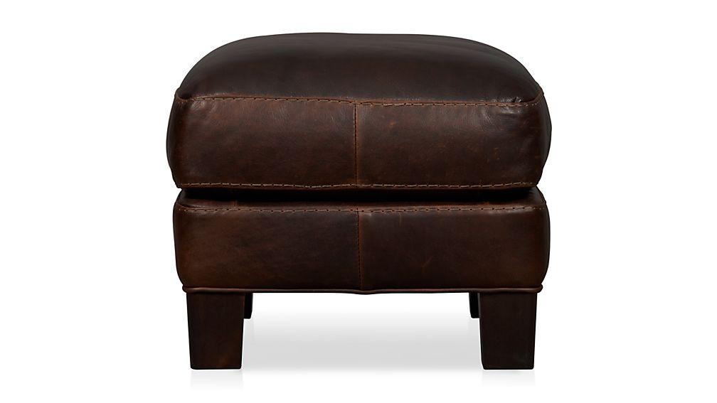 Briarwood Leather Ottoman