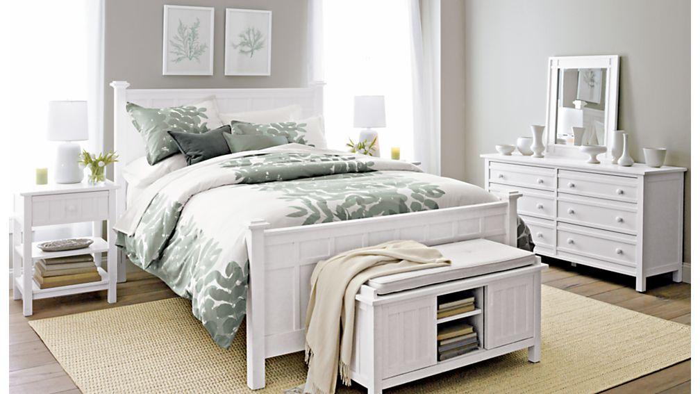 Brighton White Twin Bed