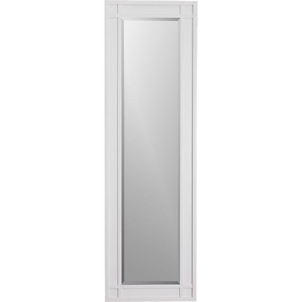 Brighton White Floor Mirror
