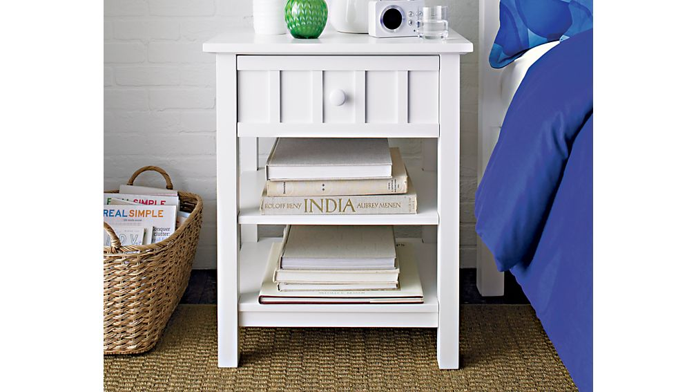 Brighton White Nightstand