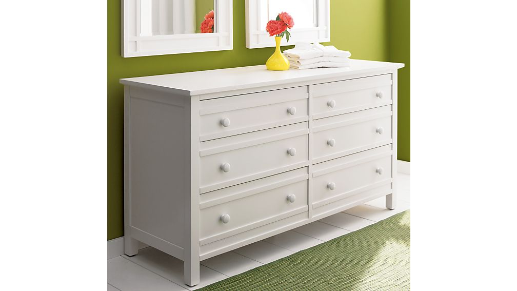 Brighton White 6 Drawer Dresser