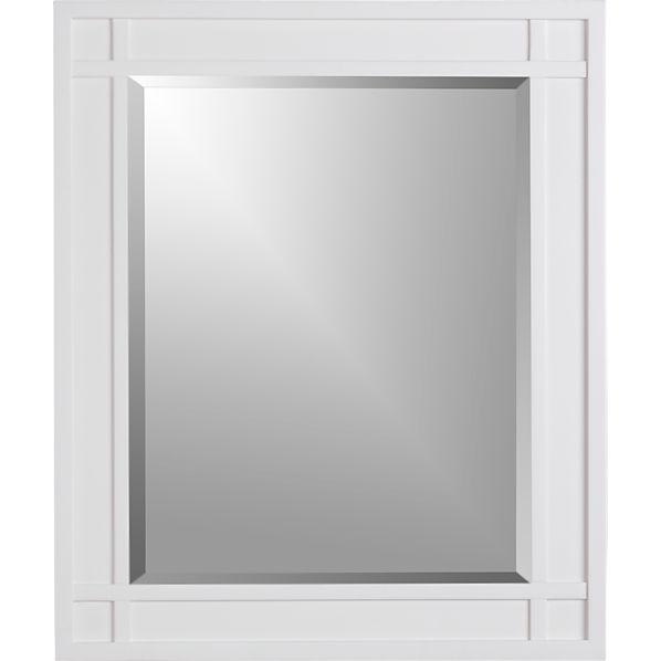 Brighton White Wall Mirror