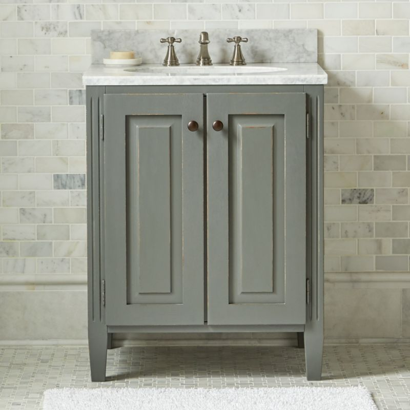 Britta powder room vanity crate and barrel for Powder bathroom vanities