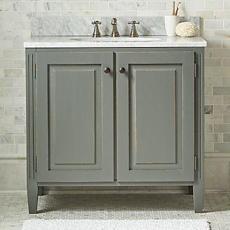 Bathroom furniture vanities bath towers crate and barrel - Crate and barrel bathroom vanities ...