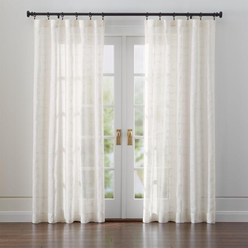 Briza Sheer Cream Linen Curtains Crate And Barrel