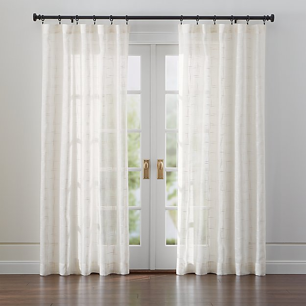 Briza Sheer Cream Linen Curtains Crate And Barrel