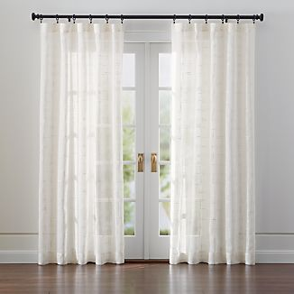 Briza Ivory Sheer Linen Curtains