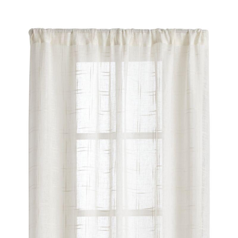 "Briza 50""x84"" Ivory Sheer Linen Curtain Panel"