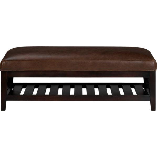 Brody Leather Rectangle Ottoman