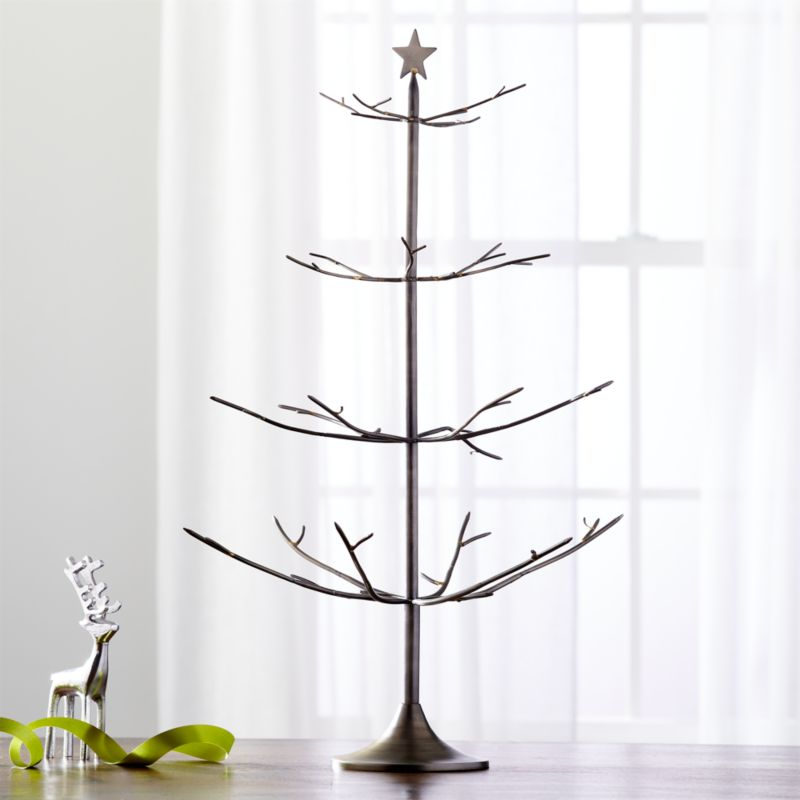 Bronze With Brass Solder Ornament Tree Crate And Barrel