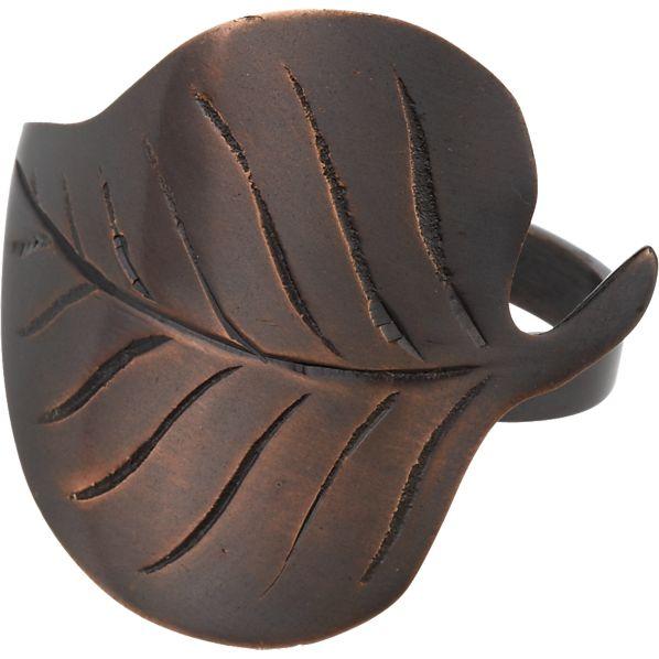 Bronze Leaf Napkin Ring