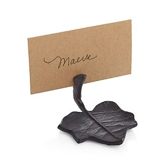 Bronze Leaf Place Card Holder