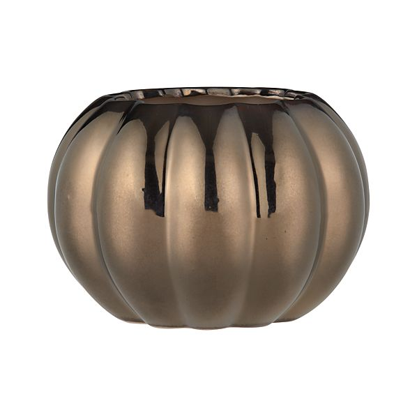 Bronze Pumpkin Large Vase