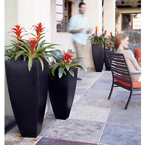 Bronze Tall Tapered Planters - Bronze 26