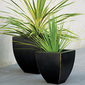 Bronze Tapered Planters - Bronze Large...