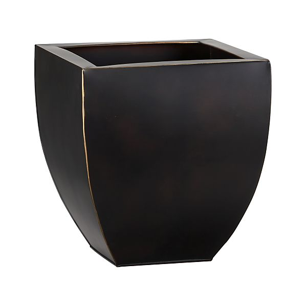Large Bronze Tapered Planter