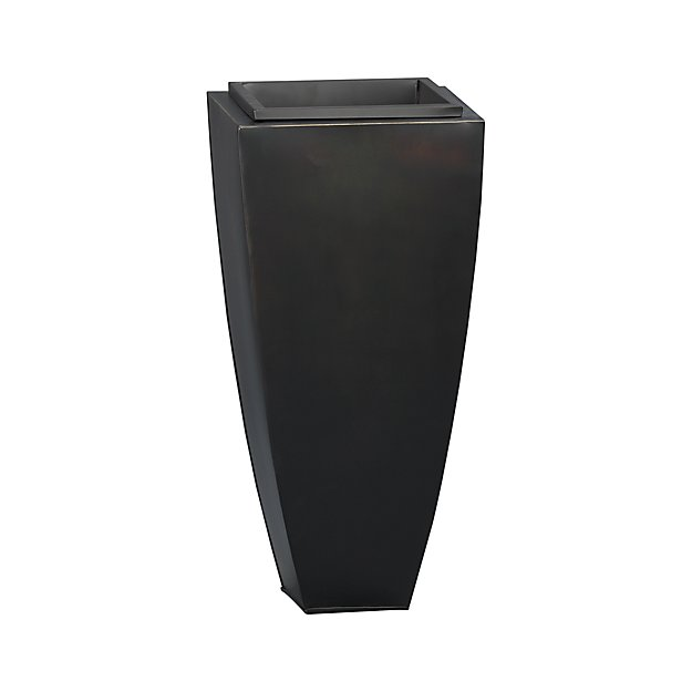 "Bronze 26.5"" Tall Tapered Planter"
