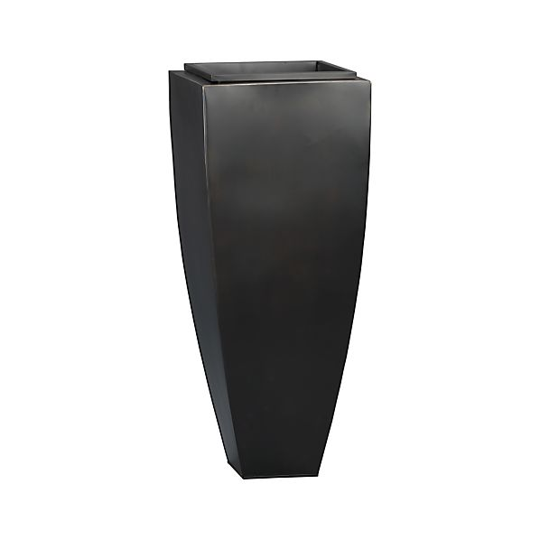 "Bronze 33.75"" Tall Tapered Planter"