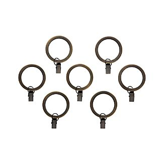 Set of 7 Bronze Curtain Rings