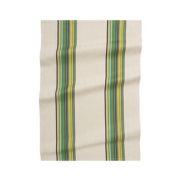 Brooklyn Green Dish Towel