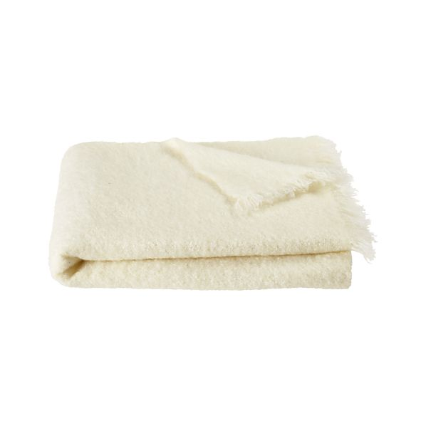 Brush White Throw