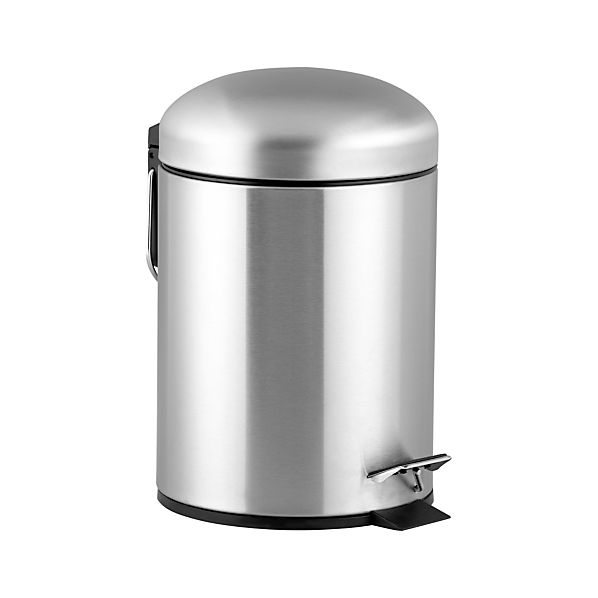 Brushed Stainless Steel 1.3-Gallon Step Trash Can