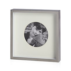 """Brushed Silver Frame 3"""" Round"""