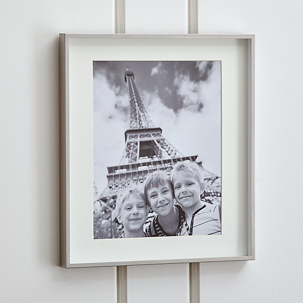 Brushed Silver 11x14 Picture Frame Crate And Barrel