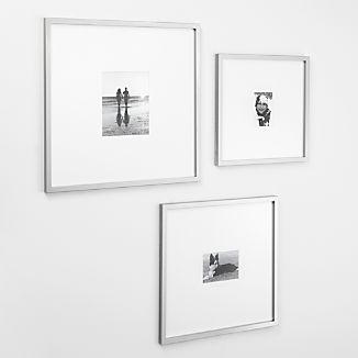 Brushed Silver Gallery Frames