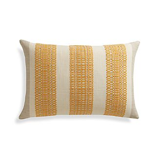 "Bryce 22""x15"" Pillow with Feather-Down Insert."