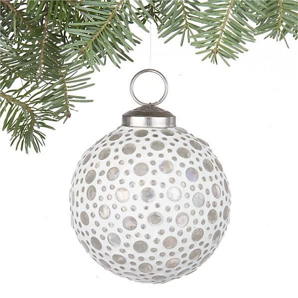 Bubble White Ball Ornament