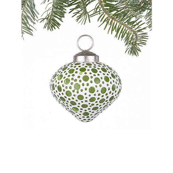 Bubble Green Teardrop Ornament