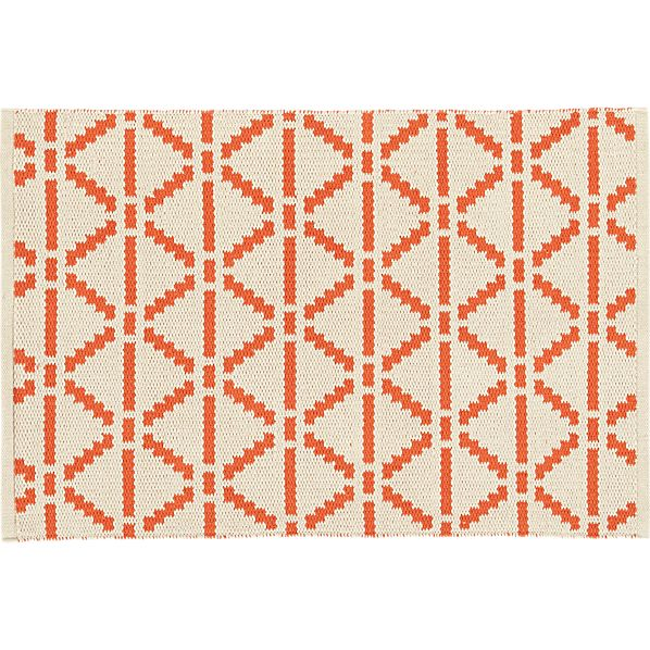 Bucato Coral 2'x3' Rug