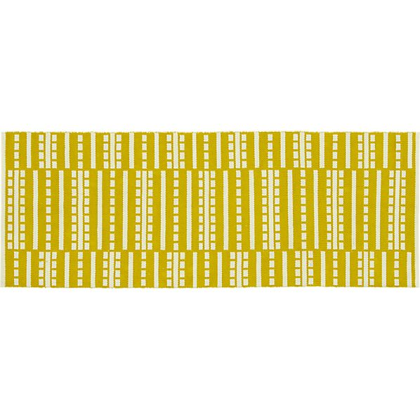 Bucato Yellow 2.5'x7' Runner
