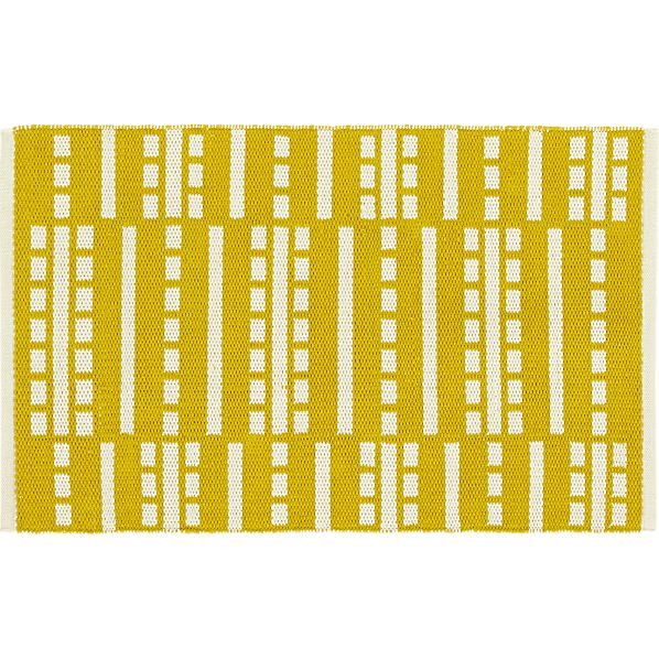 Bucato Yellow 2'x3' Rug