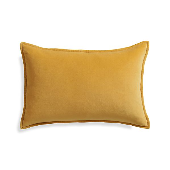 "Buckley Maize 24""x16"" Pillow with Feather-Down Insert"