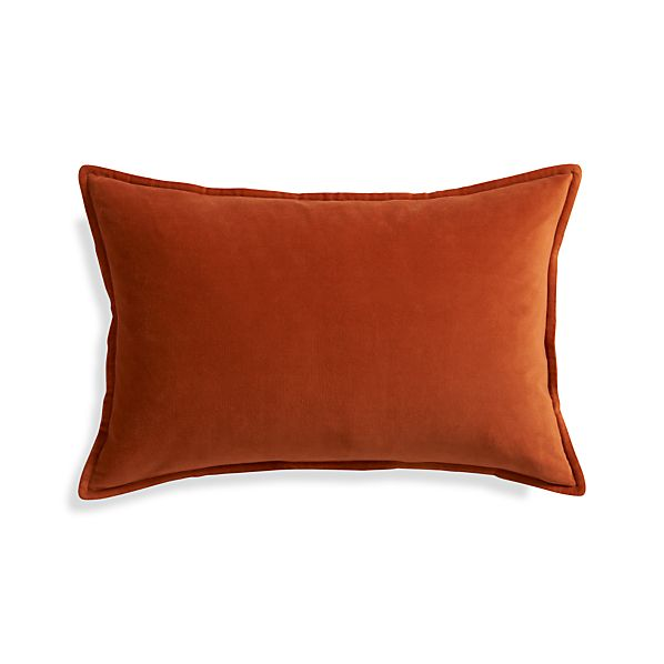 "Buckley Orange 24""x16"" Pillow with Feather-Down Insert"